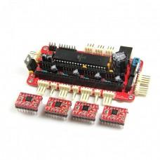 RepRap assembled Sanguinololu board+4pcs A4988 stepper driver